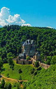 Картинка Германия Замок Лес Eltz Castle