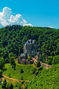 Картинка Германия Замки Леса Eltz Castle