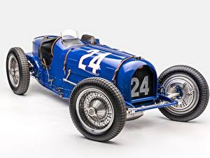 Картинки Ретро BUGATTI Серый фон Classic Grand Prix 1933 Type 59 Grand Prix Автомобили
