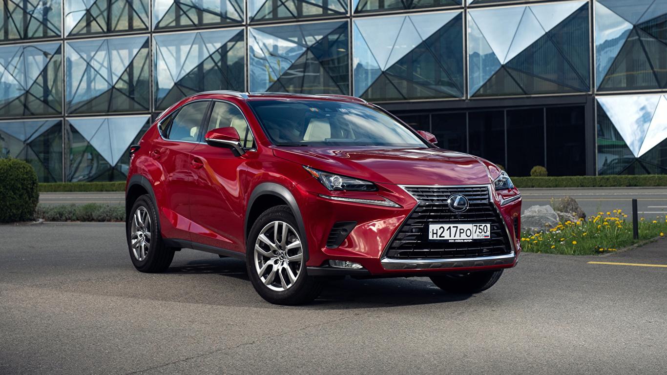 Картинки Лексус 2018 NX 200 Бордовый авто Металлик 1366x768 Lexus бордовая бордовые темно красный машина машины автомобиль Автомобили