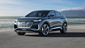 Обои Ауди CUV Металлик Q4 Sportback e-tron Concept, 2020 Автомобили
