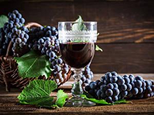 Обои Вино Виноград Бокал Продукты питания