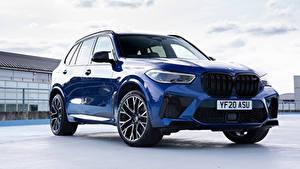 Обои BMW Кроссовер Синий Металлик X5 M Competition UK-spec (F95), 2020