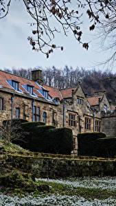 Картинка Англия Здания Кусты East Harlsey North Yorkshire