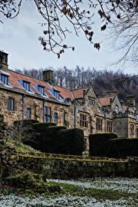 Картинка Англия Здания Кусты East Harlsey North Yorkshire город