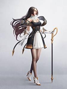 Фото Красивая Платья Юбки Шатенки Priest, Kyoung Min Yoo Фантастика Девушки