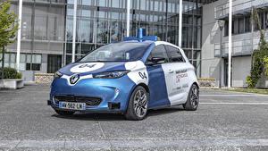 Обои для рабочего стола Renault Тюнинг Полицейские 2019 ZOE Cab машины