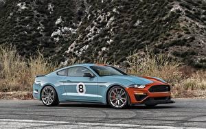 Картинка Ford Металлик Сбоку Mustang GT, Roush Performance, Stage 3 машина