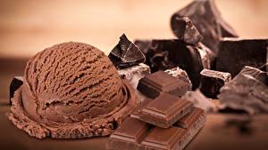 Фотография Сладкая еда Мороженое Шоколад Шарики Продукты питания