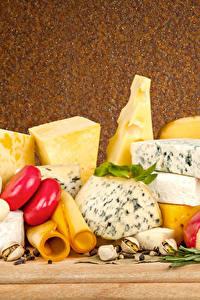 Картинка Сыры Орехи Специи Продукты питания