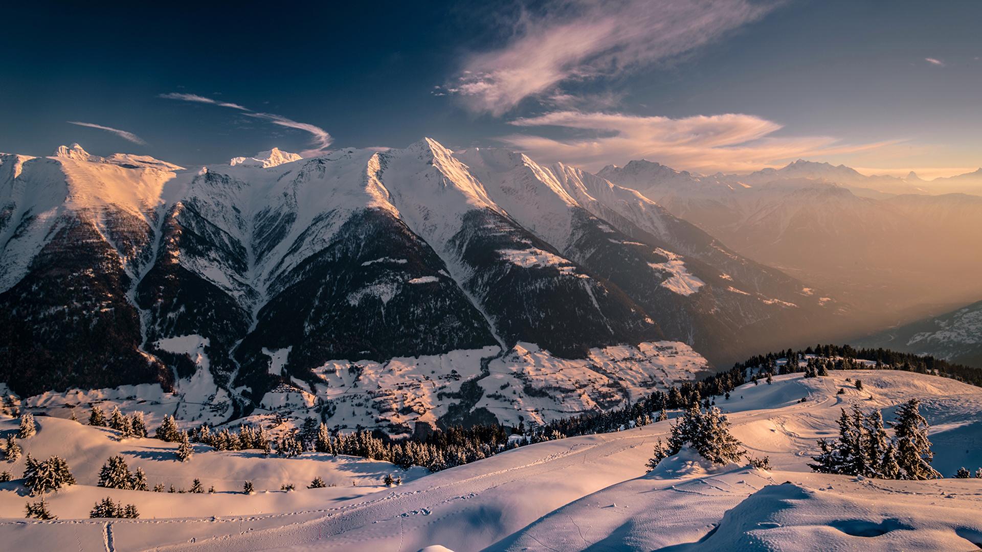 Обои швейцария, гора Нидерхорн, Mount Niederhorn, alps, Switzerland, альпы. Природа foto 19