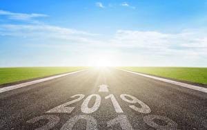 Картинки Новый год Дороги 2019 Асфальт