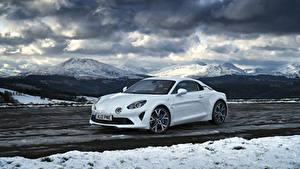 Фото Рено Белая Металлик 2018-19 Alpine A110 Pure Автомобили