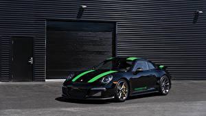 Фото Porsche Стайлинг Черный Металлик 2016 911 R Машины