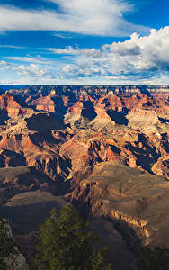 Картинка Гранд-Каньон парк США Парки Пейзаж Гора Небо Облака