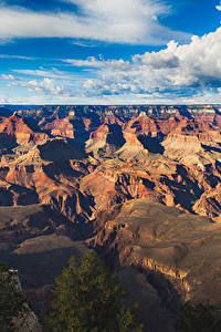 Картинка Гранд-Каньон парк США Парки Пейзаж Гора Небо Облака Природа