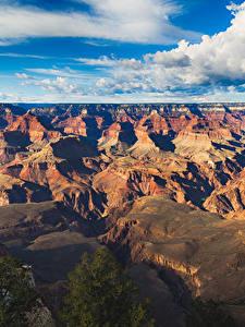 Картинка Гранд-Каньон парк США Парки Пейзаж Горы Небо Облака