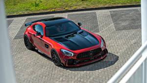 Обои Mercedes-Benz Красный Металлик 2018 Prior-Design AMG GT S PD700GTR Автомобили