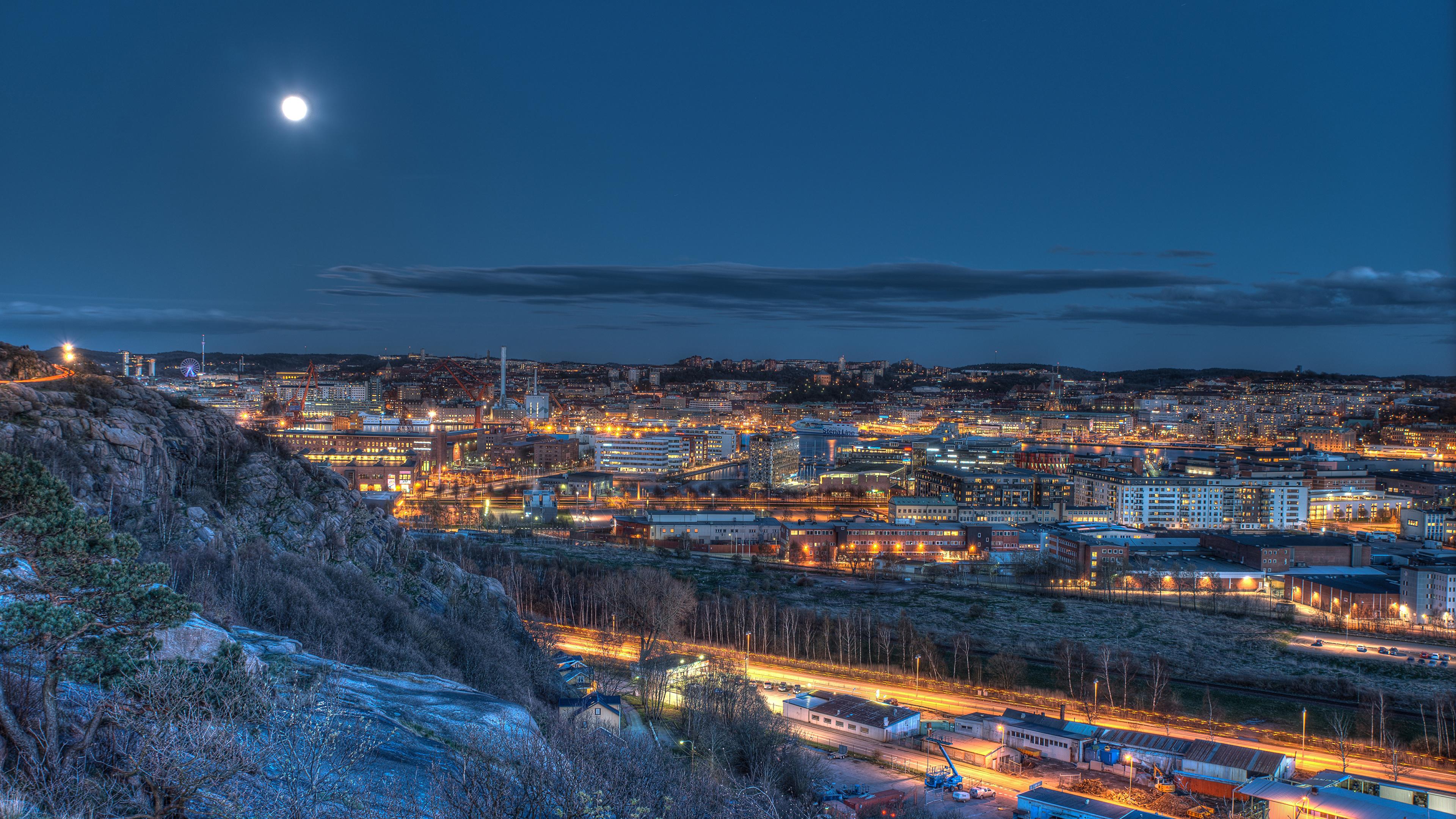 Обои швеция, ночь, гетеборг. Города foto 9
