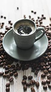 Картинка Кофе Блюдца Зерна
