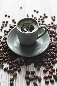 Картинка Кофе Блюдце Зерна Еда
