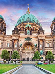 Картинки Берлин Германия Храм Собор HDR
