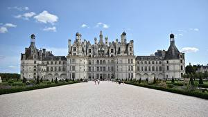 Фотография Замки Франция Дворца Музеи Château de Chambord of the Loire Valley