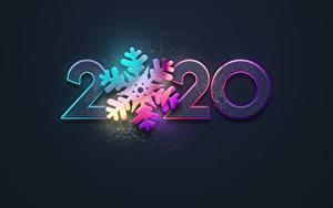 Фото Новый год Черный фон Снежинка 2020