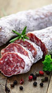 Фото Мясные продукты Колбаса Приправы Перец чёрный