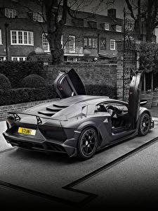 Обои Lamborghini Серая Aventador Mansory Автомобили