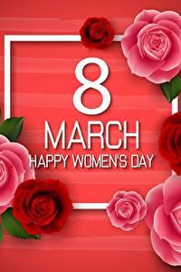 Картинки Международный женский день Инглийские цветок