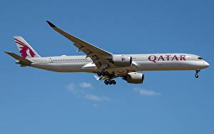 Фотографии Airbus Самолеты Пассажирские Самолеты Сбоку A350-1000, Qatar Airways