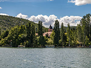 Обои Хорватия Парк Озеро Деревья Krka National Park