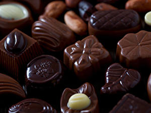 Фотография Сладости Конфеты Шоколад Крупным планом Продукты питания
