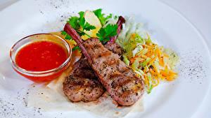 Картинка Вторые блюда Мясные продукты Овощи Кетчупа Еда