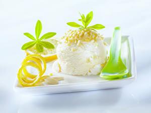 Обои Сладости Мороженое Лимоны Шар Продукты питания