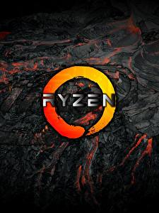 Фото AMD Логотип эмблема Ryzen Компьютеры