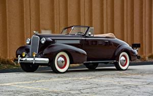 Фото Кадиллак Кабриолета Черная Металлик 1937 Series 60 Convertible Coupe by Fisher Машины