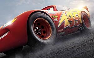 Картинки Тачки 3 Красная Lightning McQueen мультик