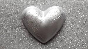 Фотография День святого Валентина Серая Серце Капли