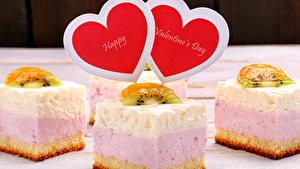 Картинка День святого Валентина Сладкая еда Пирожное Серце Пища