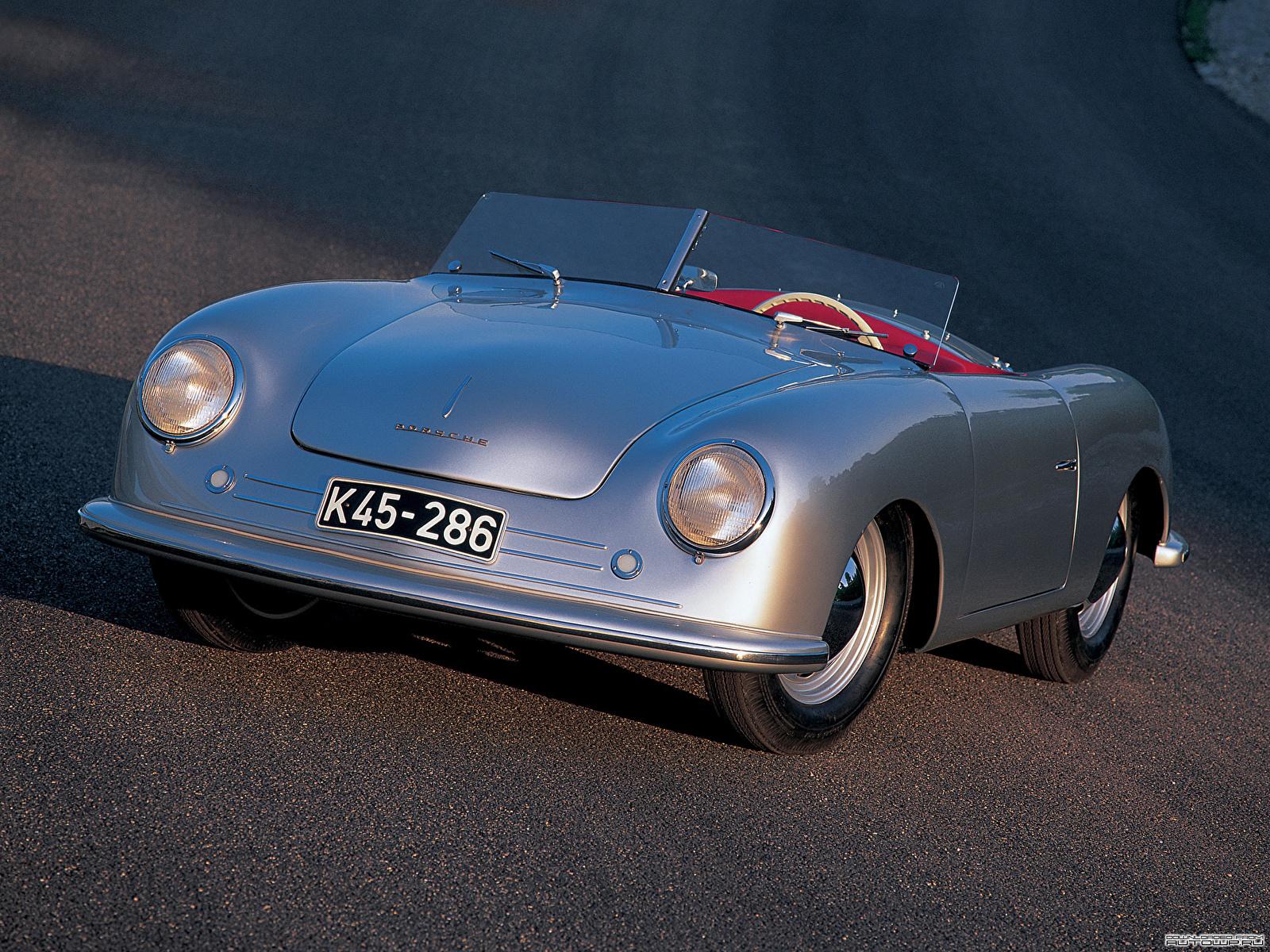 Фото Porsche 356 Roadster №1 1948 Родстер Автомобили 1600x1200 Порше авто машина машины автомобиль