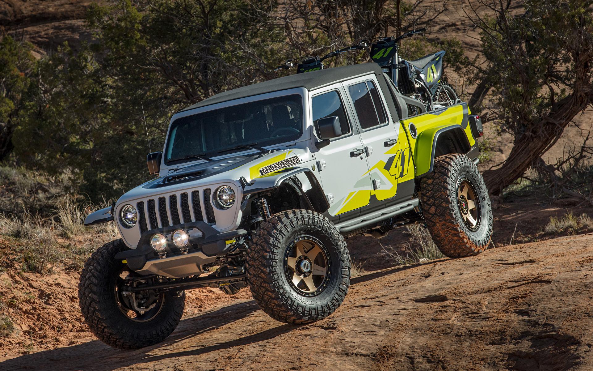 Обои для рабочего стола Джип Тюнинг SUV 2019 Flatbill Пикап кузов Автомобили 1920x1200 Jeep Стайлинг Внедорожник авто машины машина автомобиль