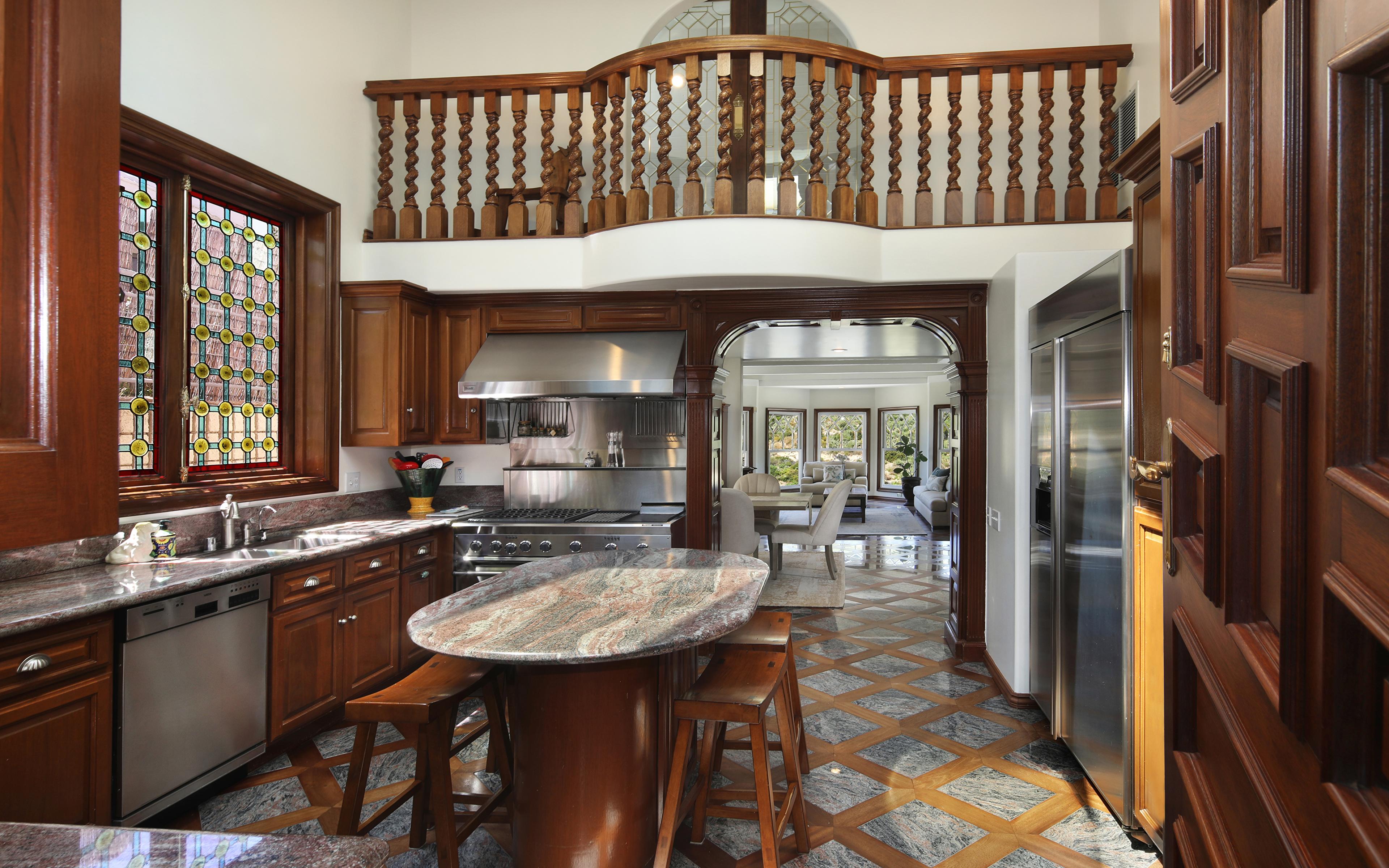 Фотографии кухни Интерьер стола дизайна 3840x2400 Кухня Стол столы Дизайн
