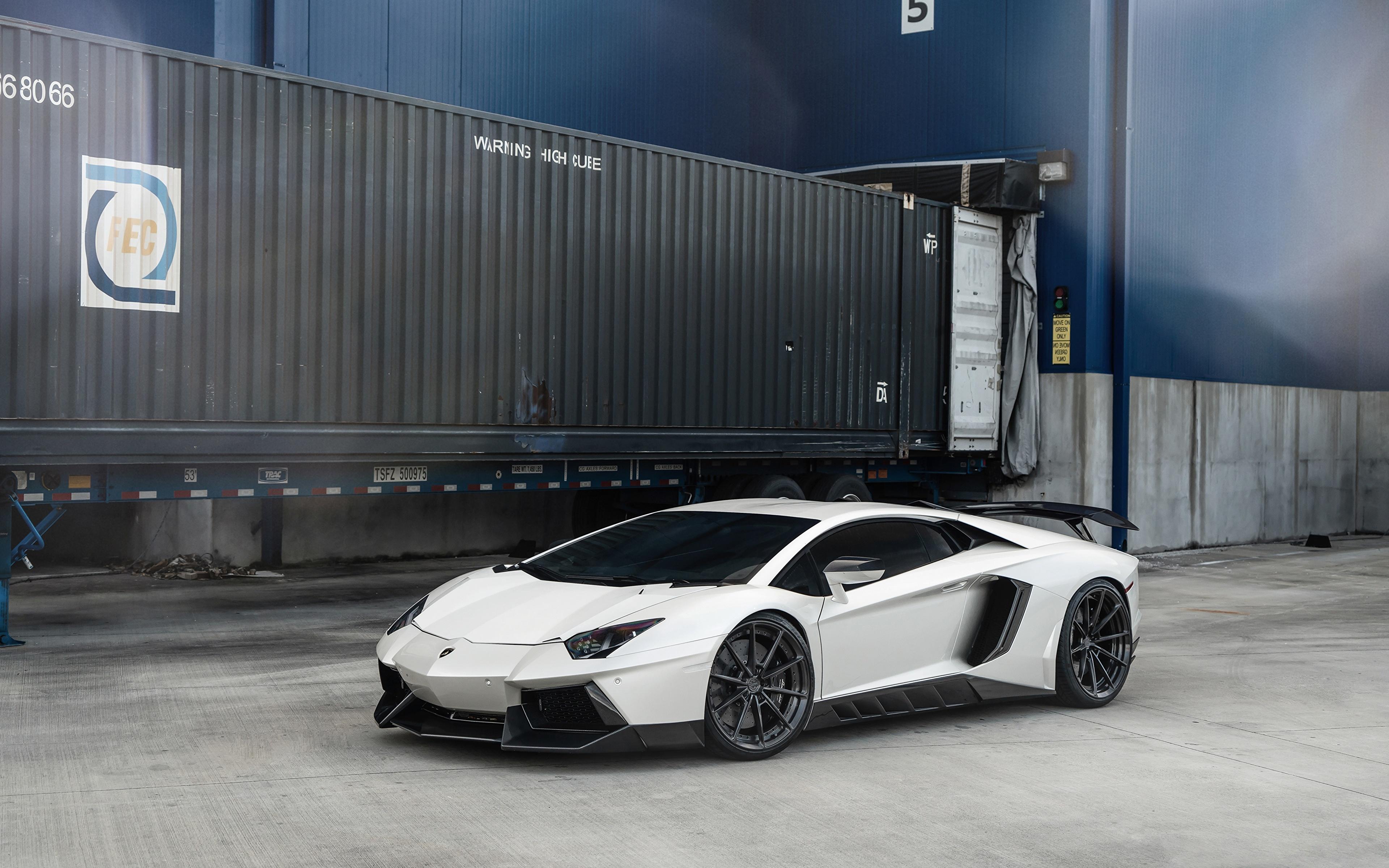 Фотография Ламборгини LP700 ANRKY AN28 белых машина 3840x2400 Lamborghini белая белые Белый авто машины Автомобили автомобиль