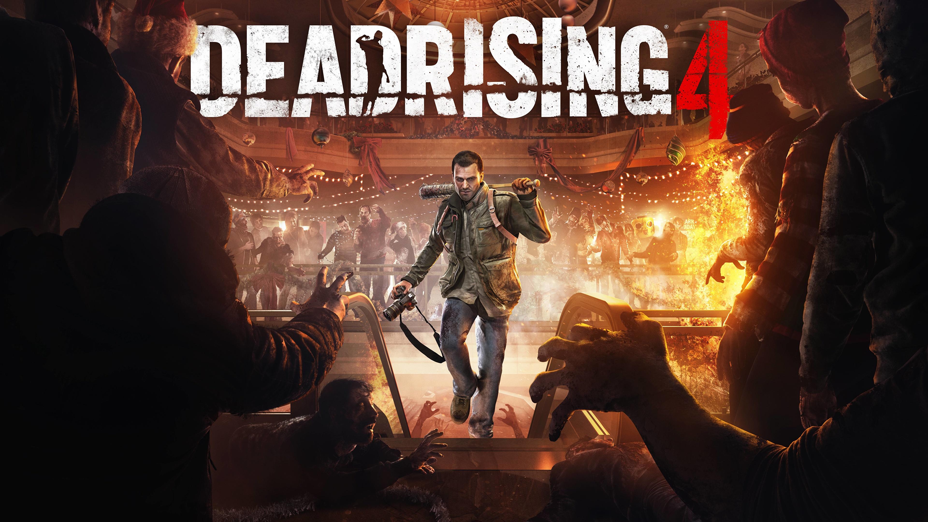 Фотографии Dead Rising Мужчины 4 Frank West компьютерная игра 3840x2160 мужчина Игры