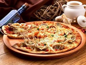 Обои Пицца Продукты питания Кусок Еда