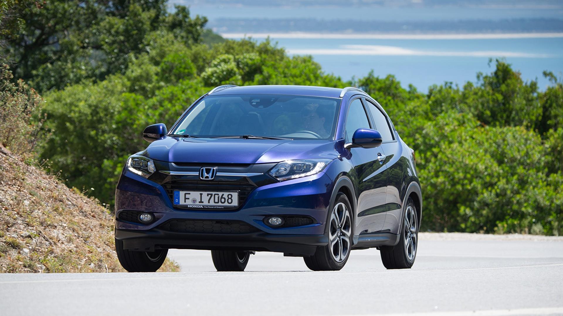 Фото Honda Кроссовер HR-V, 2015 машина Спереди Металлик 1920x1080 Хонда CUV авто машины Автомобили автомобиль