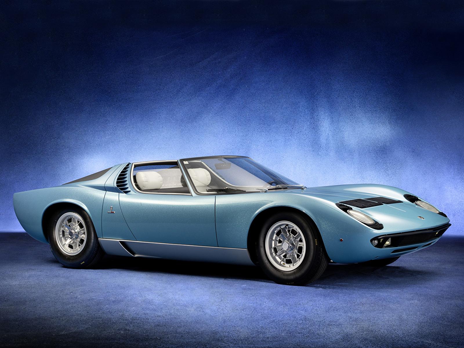 Обои для рабочего стола Lamborghini Miura Roadster 1968 дизайн Bertone Родстер Автомобили 1600x1200 Ламборгини авто машина машины автомобиль