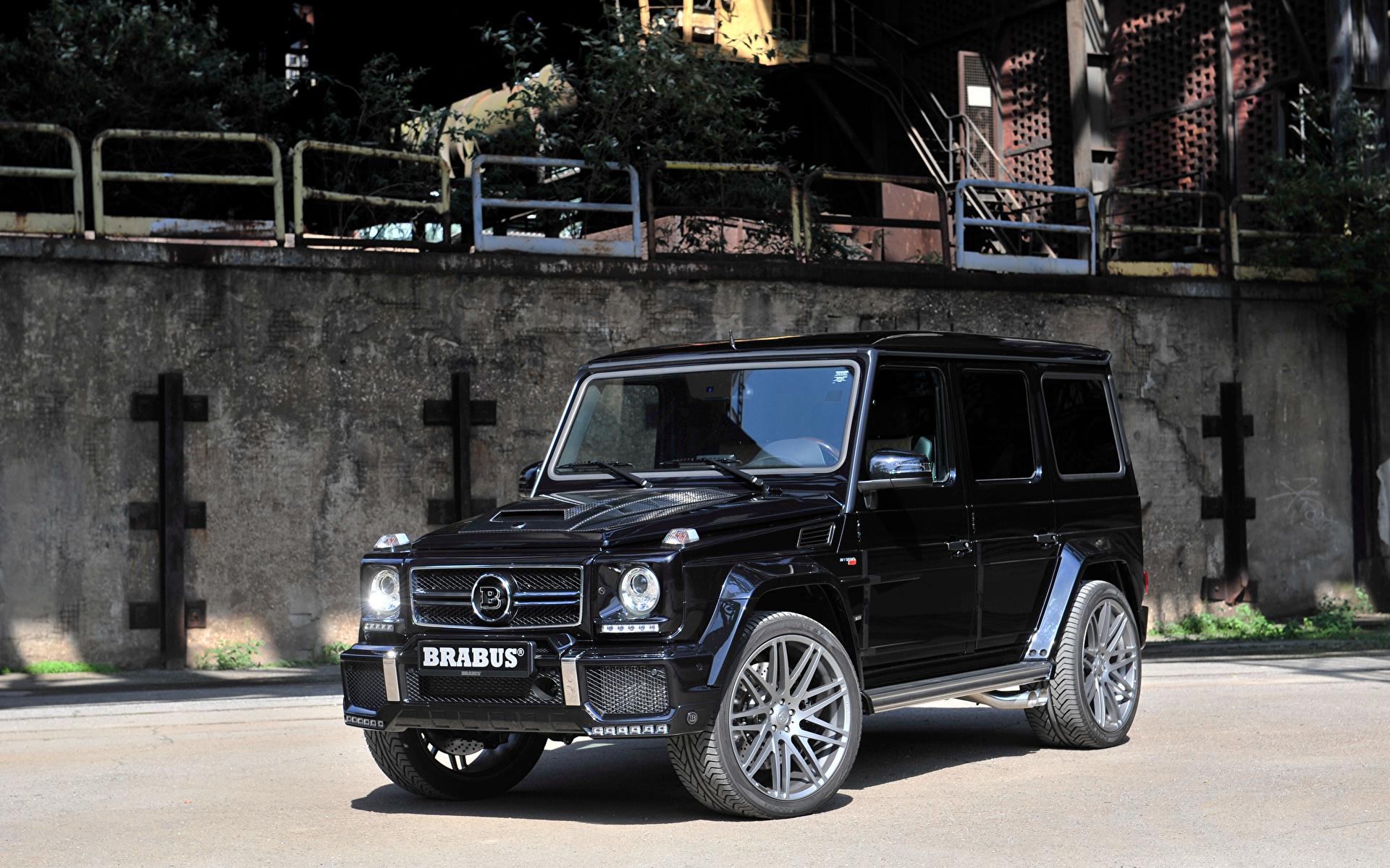 Обои черная Mercedes-Benz 2015 Brabus G-Class G 850 Gelandewagen W463 G-класс 1920x1200 черных черные Черный Мерседес бенц Гелентваген Брабус